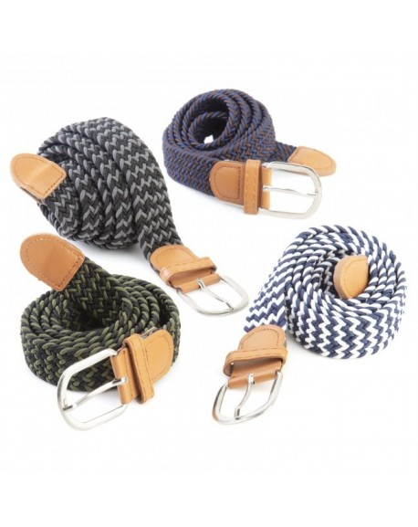 Cinturón elástico bicolor