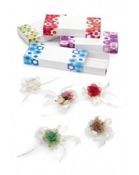 Caja cuadrada floral